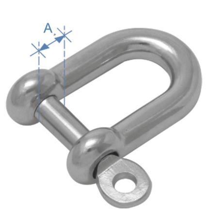 Κλειδί ναυτικό τύπου D AISI 316 25mm_e-sea.gr