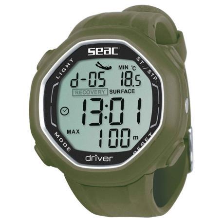 Καταδυτικό ρολόι-υπολογιστής Seac Driver πράσινο_e-sea.gr