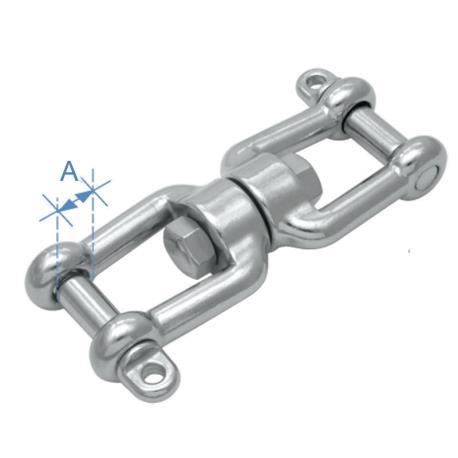 Στριφτάρι με 2 κλειδιά Inox 316 10mm_e-sea.gr