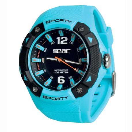 Ρολόι αδιάβροχο Sporty Seac γαλάζιο_e-sea.gr