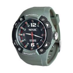 Ρολόι αδιάβροχο Sporty Seac πράσινο στρατιωτικό