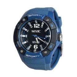 Ρολόι αδιάβροχο Sporty Seac μπλε