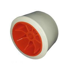 Ράουλο τρέιλερ λευκό με ακτίνες πορτοκαλί 100Χ68/17mm