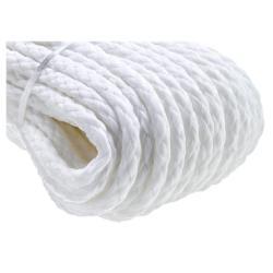 Σχοινί πλεκτό επιπλέον 10mm λευκό