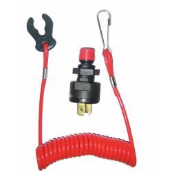 Διακόπτης ασφαλείας Kill Switch με σπιράλ 12/24V-5A