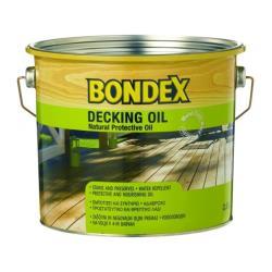 Λάδι εμποτισμού ξύλου Decking Oil 2.5lt διαφανές Bondex