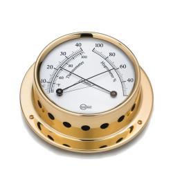 Θερμόμετρο/υγρόμετρο Tempo διάμ. 85mm μπρούτζινο_e-sea.gr