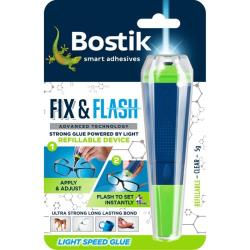 Κόλλα στιγμής ενεργοποίησης UV Fix & Flash 5gr Bostix