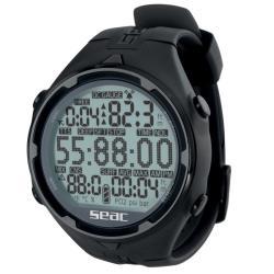 Καταδυτικό ρολόι-υπολογιστής Action HR μαύρο Seac