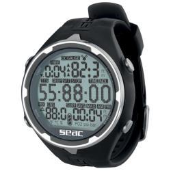 Καταδυτικό ρολόι-υπολογιστής Action μαύρο Seac