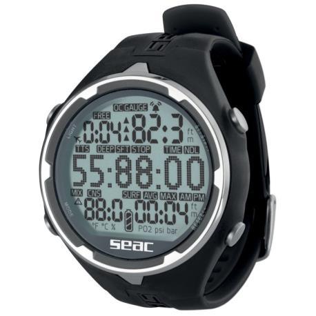 Καταδυτικό ρολόι-υπολογιστής Action μαύρο Seac_e-sea.gr