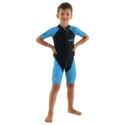 Παιδική στολή μονοσόρτς κολύμβησης Dolphin Boy 1.5mm μπλε Seac