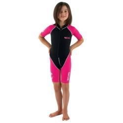 Παιδική στολή μονοσόρτς κολύμβησης Dolphin Girl 1.5mm ροζ Seac