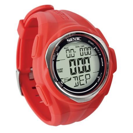 Καταδυτικό ρολόι-υπολογιστής Partner κόκκινο Seac_e-sea.gr