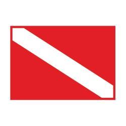 Σημαία καταδυτική 35x50cm_e-sea.gr