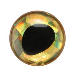 Μάτια 3D Epoxy Fish Eyes ολογραφικό χρυσό 10mm Sybai_e-sea.gr