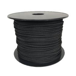 Σχοινί πλεκτό πολυεστερικό μαύρο 5mm_e-sea.gr