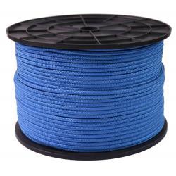 Σχοινί πλεκτό πολυπροπυλενίου μπλε 8mm