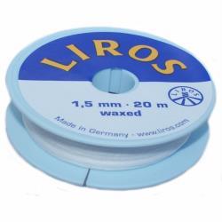 Νήμα κερωμένο 1.5mm 20m λευκό Liros