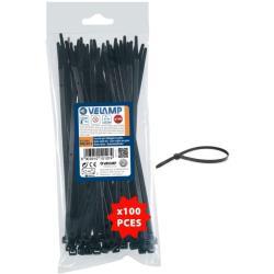 Δεματικά πλαστικά μαύρα 2.5x100 mm 100 τεμ. Velamp