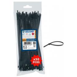 Δεματικά πλαστικά μαύρα 7.6x550 mm 50 τεμ. Velamp