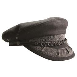 Υδραίικο καπέλο χειροποίητο μαύρο