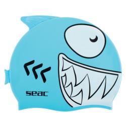 Σκουφάκι κολύμβησης παιδικό σιλικόνης Fancy Shark Seac