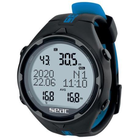 Καταδυτικό ρολόι-υπολογιστής Action HR μαύρο/μπλε Seac_e-sea.gr