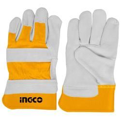 Γάντια εργασίας INGCO δερμάτινα XL