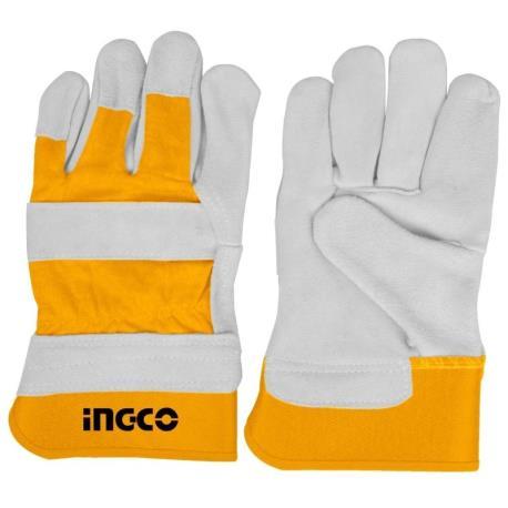Γάντια εργασίας INGCO δερμάτινα XL_e-sea.gr