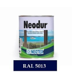 Χρώμα πολυουρεθάνης δύο συστατικών Neodur μπλε σκούρο RAL5013