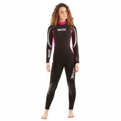 Στολή ολόσωμη γυναικεία μαύρη/ροζ 2.2m Relax Seac