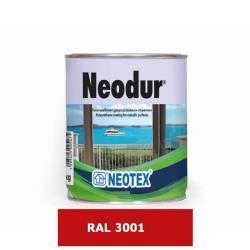 Χρώμα πολυουρεθάνης δύο συστατικών Neodur κόκκινο RAL3001 1kg