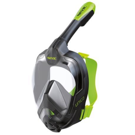 Μάσκα full face Unica Seac μαύρο/πράσινο L/XL_e-sea.gr