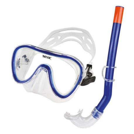 Σετ μάσκα αναπνευστήρας Seac Salina σιλικόνης μπλέ_e-sea.gr