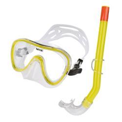 Σετ μάσκα αναπνευστήρας Seac Salina σιλικόνης κίτρινη