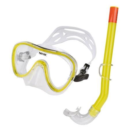 Σετ μάσκα αναπνευστήρας Seac Salina σιλικόνης κίτρινη_e-sea.gr