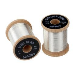 Σύρμα ασημί μεταλλικό 0.2mm