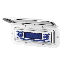 Κάλυμμα θήκης radio/CD 110x235mm λευκή