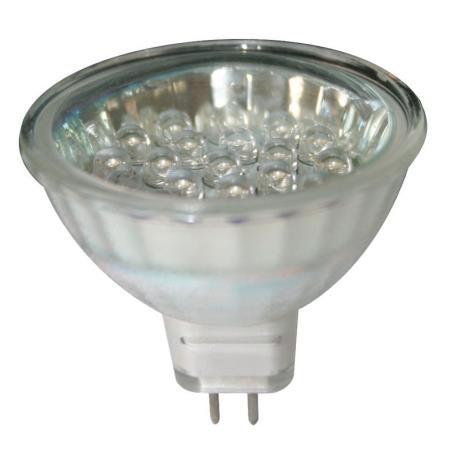 Λαμπάκι LED, 12V, MR16, G5.3, ψυχρό λευκό - 20LEDs