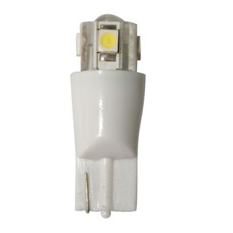 Λαμπάκι LED, 12V, T10, W2.1X9.2D, ψυχρό λευκό - 4SMDs+1LED