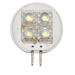 Λαμπάκι LED, 12V, T25, G4, ψυχρό λευκό - 4 PIRANHA LEDs
