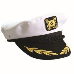 Καπέλο καπετάνιου βαμβακερό άσπρο_e-sea.gr