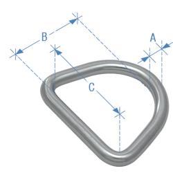 Κρίκος τύπου D, 4mm x 25mm