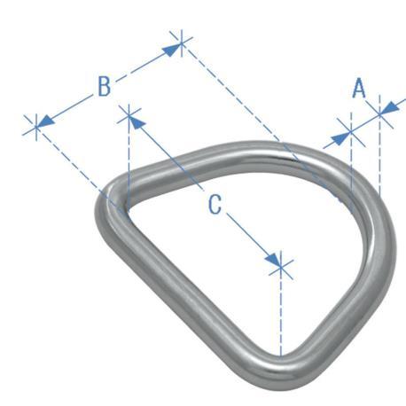 Κρίκος τύπου D, 4mm x 25mm_e-sea.gr