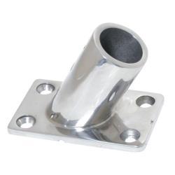 Βάση παρα/γραμμη 60ο, AISI 316, χυτή, εσωτ. διάμ. 25mm, 75x45mm