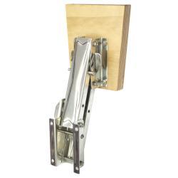 Βάση ανοξείδωτη εφεδρικής μηχανής, ρυθμιζόμενη, με ξύλινο καθρέφ