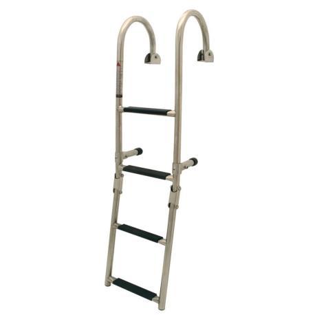 Σκάλα κουπαστής, αναδιπλώμενη, 2+3 σκαλοπάτια, Inox 316, 250x116